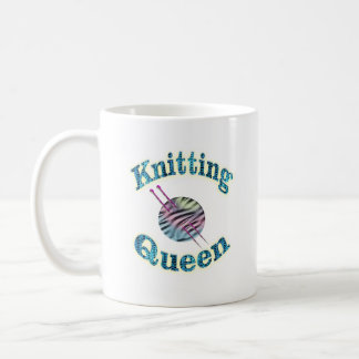 Knitting Queen Coffee Mug