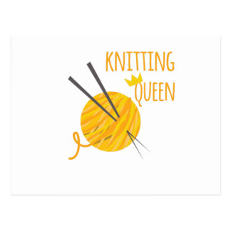 Knitting Queen Postcard