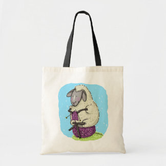 Knitting Sheep Tote Bag