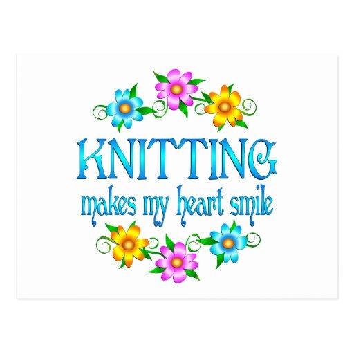 Knitting Smiles Post Card