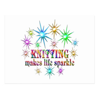 Knitting Sparkles Postcard