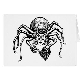 Knitting Spider (Tess) - White Cards
