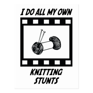 Knitting Stunts Postcard