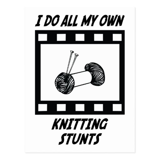 Knitting Stunts Postcard