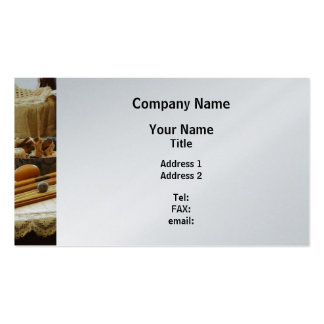 Knitting Supplies - Platinum Finish Business Card Templates