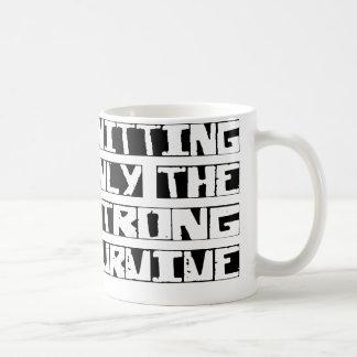 Knitting Survive Basic White Mug
