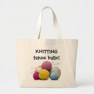 Knitting Takes Balls! Tote