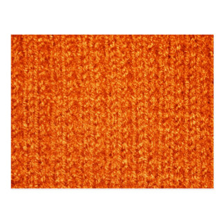 Knitting Texture of Orange-Colored Yarn Post Cards