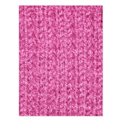 Knitting Texture of Pink-Colored Yarn Postcards