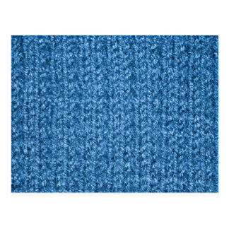 Knitting Texture of Sky Blue Colored Yarn Postcard
