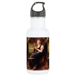 Knitting Woman by William-Adolphe Bouguereau 532 Ml Water Bottle