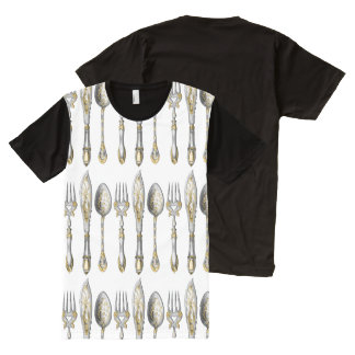 Knives forks spoons cutlery All-Over print T-Shirt
