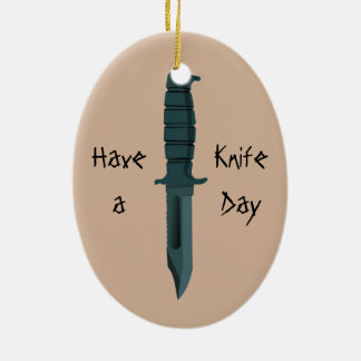 Knives Have a Knife Day Ceramic Ornament
