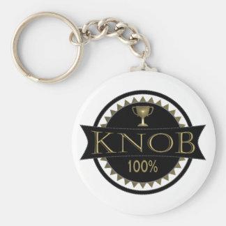 Knob Award Keyring Basic Round Button Key Ring