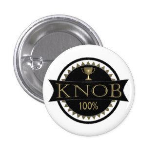 Knob Award Round Badge Pin