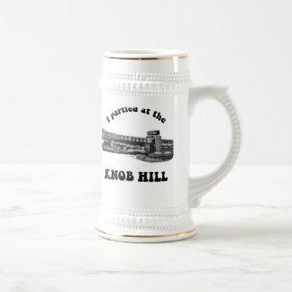 Knob Hill Beer Stein- Black on White Coffee Mug