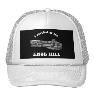 Knob Hill Trucker Cap- White on Black Cap