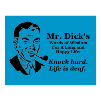 Knock Hard Postcard