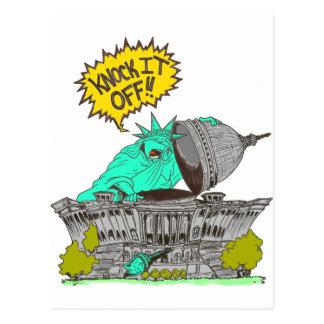 Knock It Off Washington Postcard