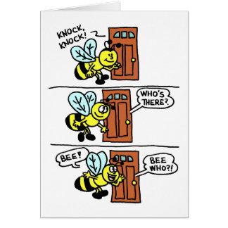 Knock Knock Bee Mine Valentine Greeting Card