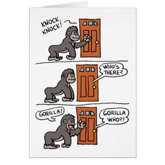 Knock Knock Gorilla Yourself A Steak Birthday Card