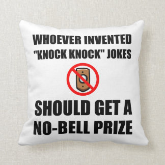 Knock Knock Joke No Bell Throw Pillow
