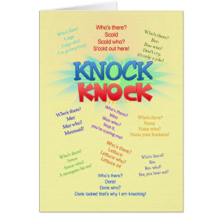 Knock knock Jokes birthday card