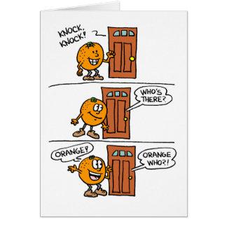 Knock Knock Orange You Glad I Remembered Card