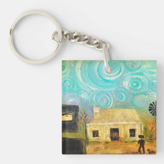 Knock Knock who's Home Key Ring