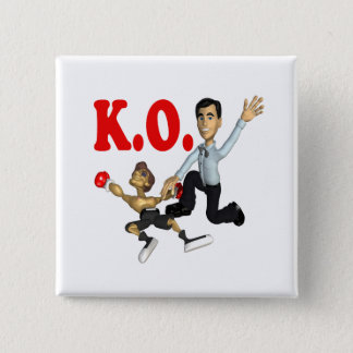 Knock Out 2 15 Cm Square Badge