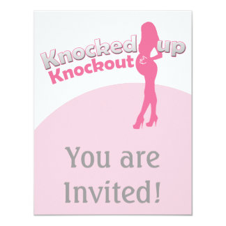 Knocked Up Knockout Baby Shower Mom-to-Be Card