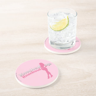 Knocked Up Knockout Baby Shower Mom-to-Be Beverage Coaster