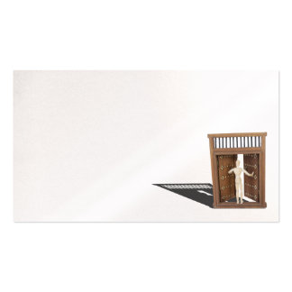Knocking on Wooden Castle Door Business Card