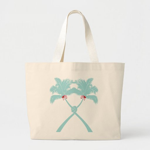 Knot Palm Trees Beach Tropical Wedding Modern Chic Bags