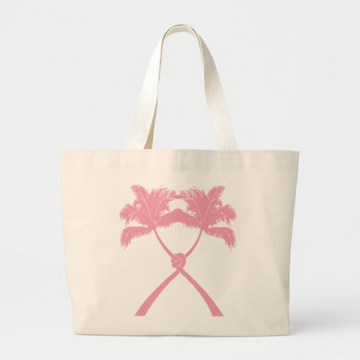 Knot Palm Trees Beach Tropical Wedding Modern Chic Canvas Bags