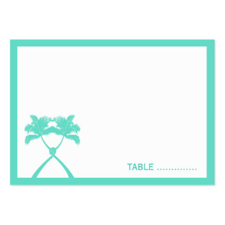 Knot Palm Trees Beach Tropical Wedding Modern Chic Business Card Templates