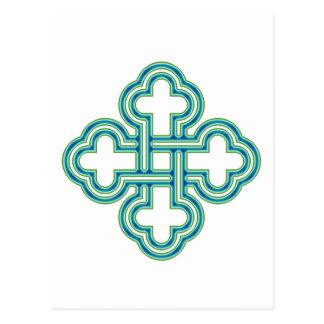 Knot Salomons knot Post Card