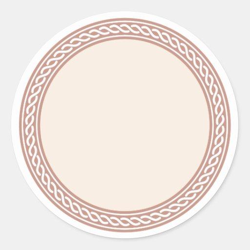 knots border blank template label round sticker zazzle. Black Bedroom Furniture Sets. Home Design Ideas