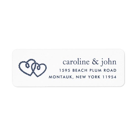 Knotted Hearts Return Address Return Address Label