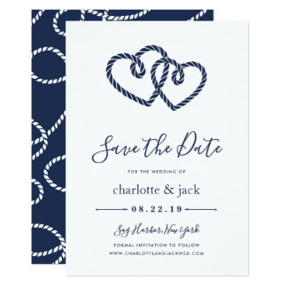 Knotted Hearts Save the Date Card