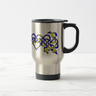 Knotted Hearts Stainless Steel Travel Mug