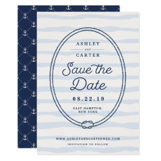 Knotted | Nautical Save the Date Card