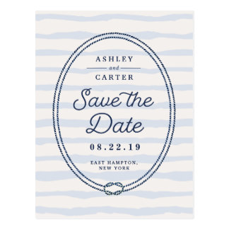 Knotted | Nautical Save the Date Postcard