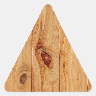 Knotty Light Wood Grain Floor Triangle Sticker