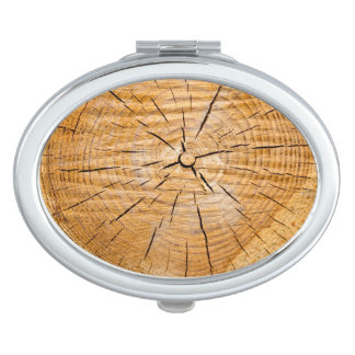 Knotty Wood Slice of Life Makeup Mirrors