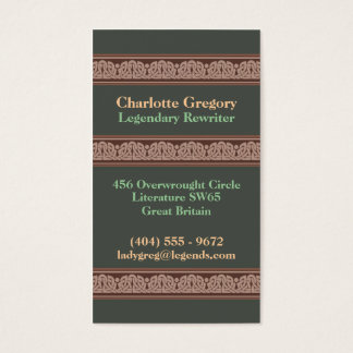 Knotwork Border Business Cards, Style A Business Card