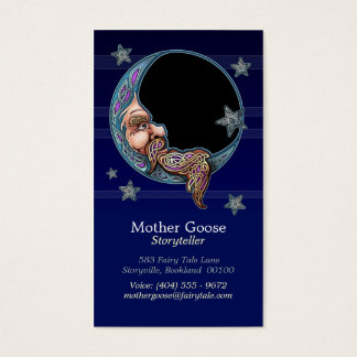 Knotwork Moon Man Business Cards
