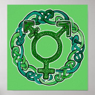 Knotwork Transgender Symbol Poster