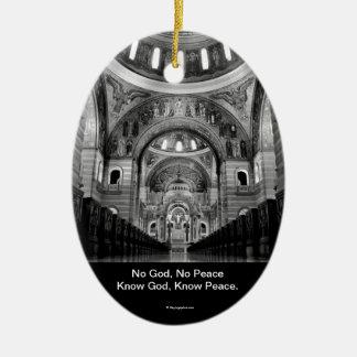 Know God Ceramic Oval Decoration