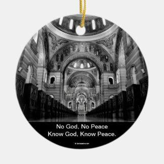 Know God Round Ceramic Decoration